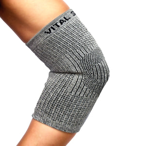 Brace-Bamboo Charcoal and Germanium Elbow Sleeve (1PC) - Vital Salveo