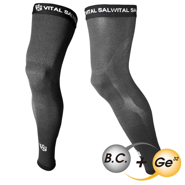 -Recovery Compression Full Leg Sleeve 1 Pair (Dark Grey) - Vital Salveo