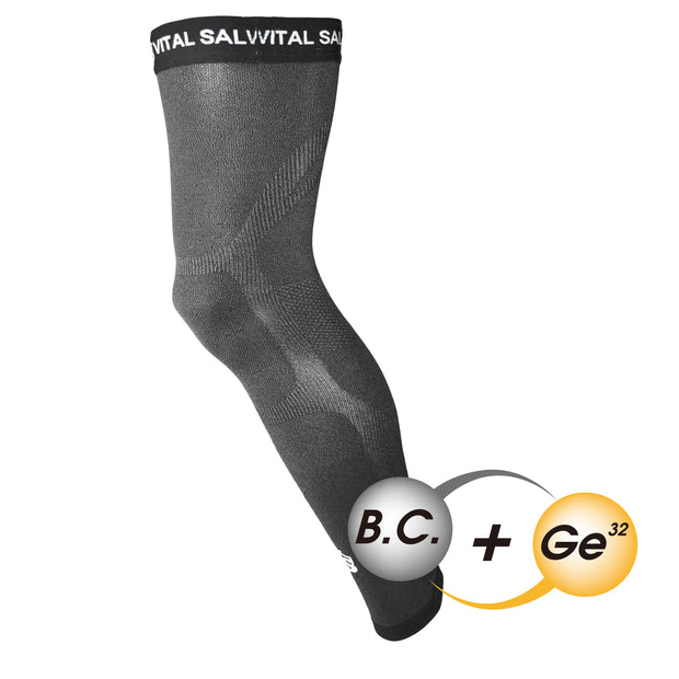 -Recovery Compression Full Leg Sleeve 1 PC (Dark Grey) - Vital Salveo