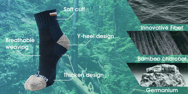 Socks-Hiking / Trek Ankle Socks - Vital Salveo