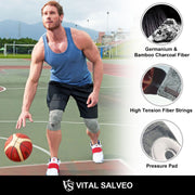Brace-3D Knit Knee Sleeve/Brace Train-Tec S PRO(PRESSURE PAD) - Vital Salveo