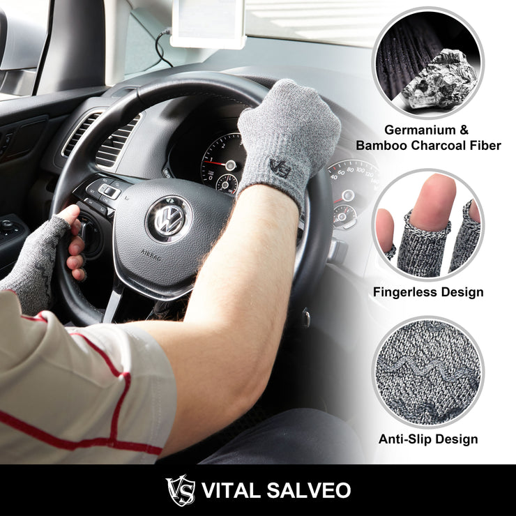 Accessories-Anti-Slip Fingerless Recovery Gloves - Vital Salveo
