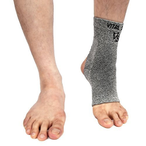 Brace-Bamboo Charcoal and Germanium Ankle Sleeve (Opening) - Vital Salveo