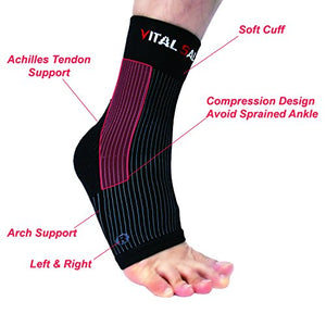Brace-Ankle Support Foot Sleeves (Pair) - Vital Salveo
