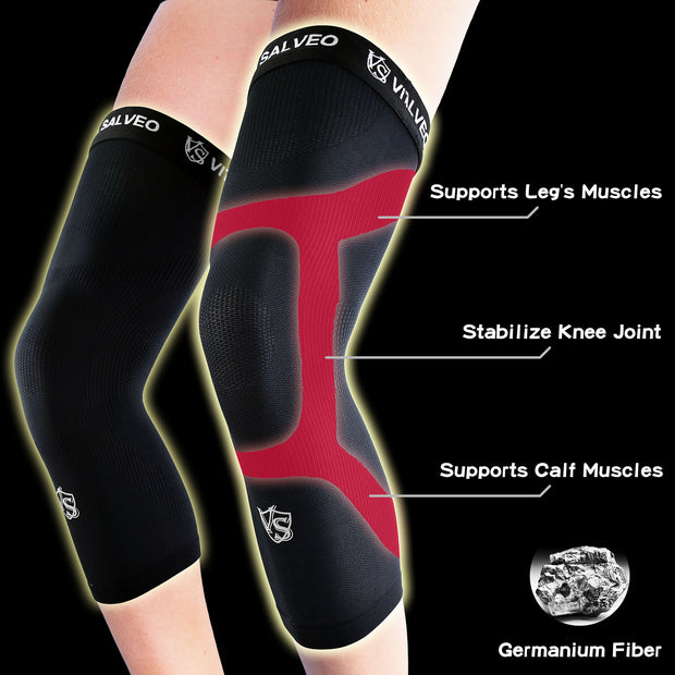 Brace-Germanium Long Knee Sleeves (1 PC) - Vital Salveo