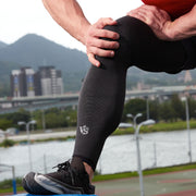 Recovery Compression Full Leg Sleeve 1 Pair (Dark Grey)