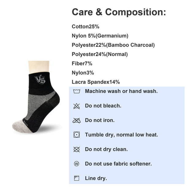 Socks-Thin Athletic Crew Socks (Black) - Vital Salveo