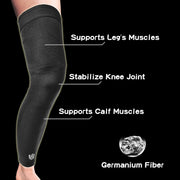 Brace-Recovery Leg Sleeves - Compression Full Leg Sleeves (Pair) - Vital Salveo