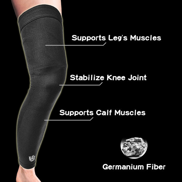 Brace-Recovery Leg Sleeves - Compression Full Leg Sleeves (1PC) - Vital Salveo