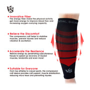 Brace-Compression Calf/Shin Sleeves / Black (2PCS) - Vital Salveo