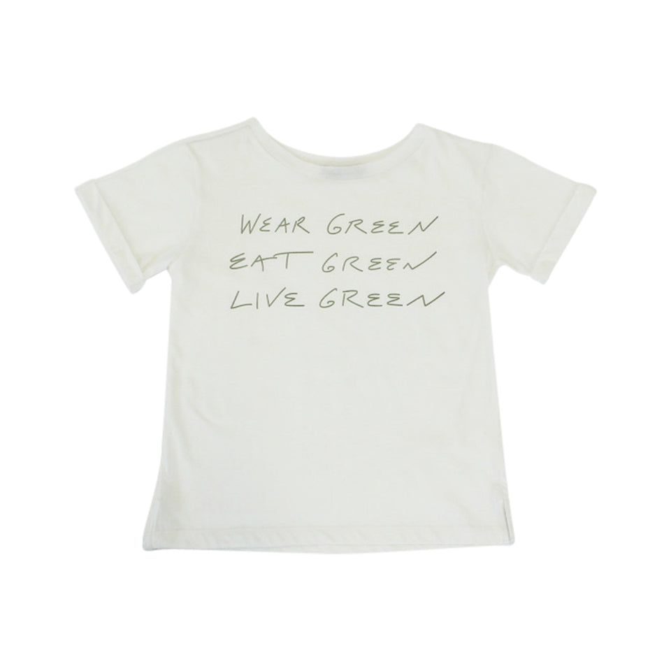 CREW NECK TEE - GO GREEN