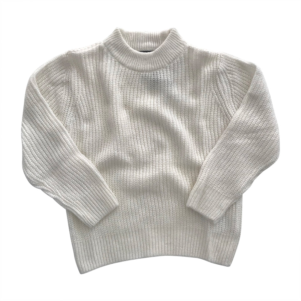 Riley Baby Sweater - Whisper