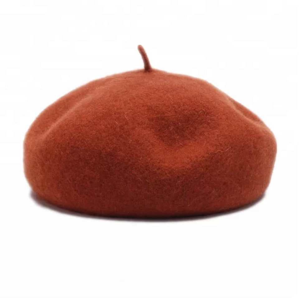 STRUCTURED BERET -  RUST
