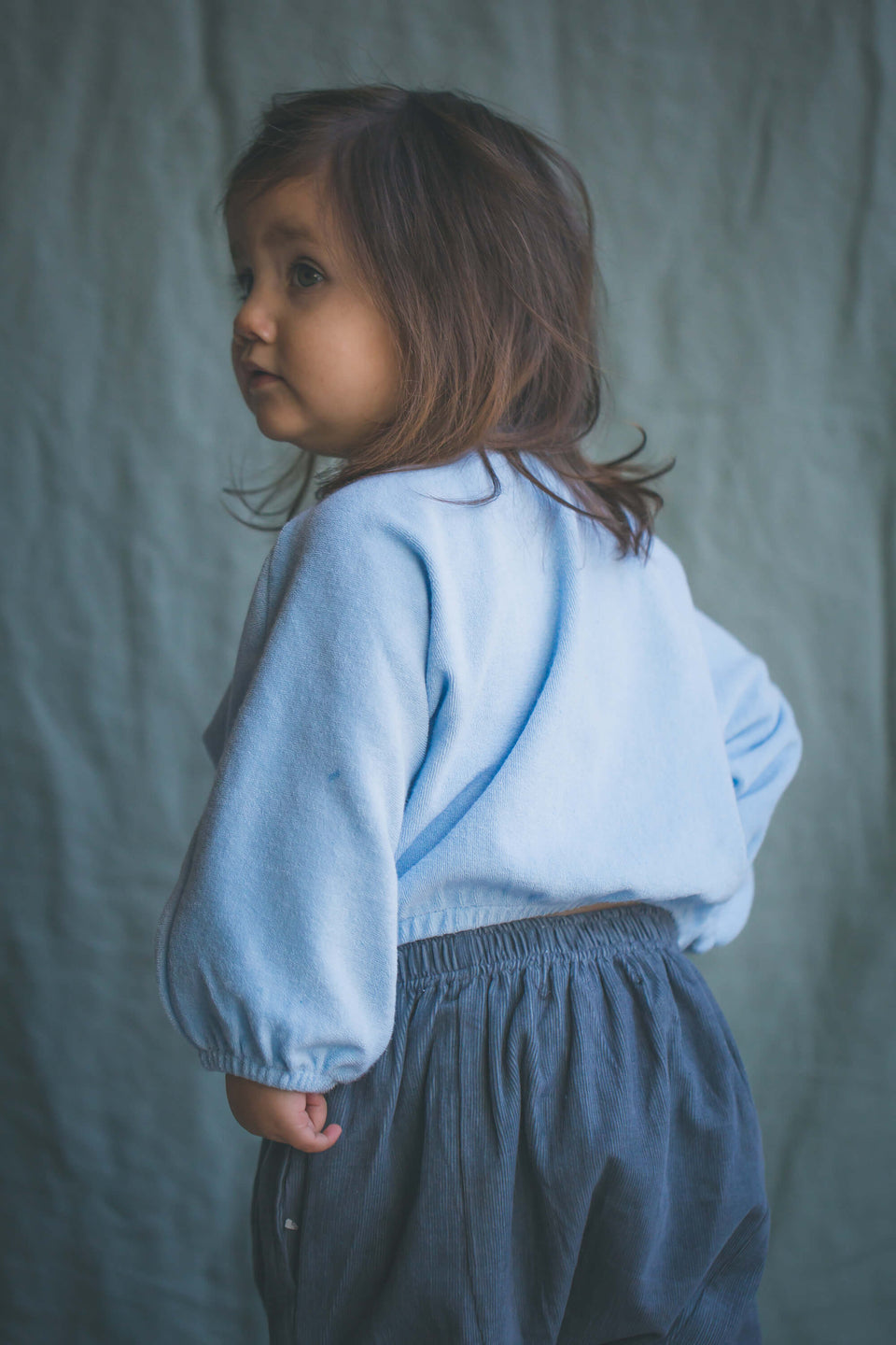 Quinn Baby Sweater - Powder Blue
