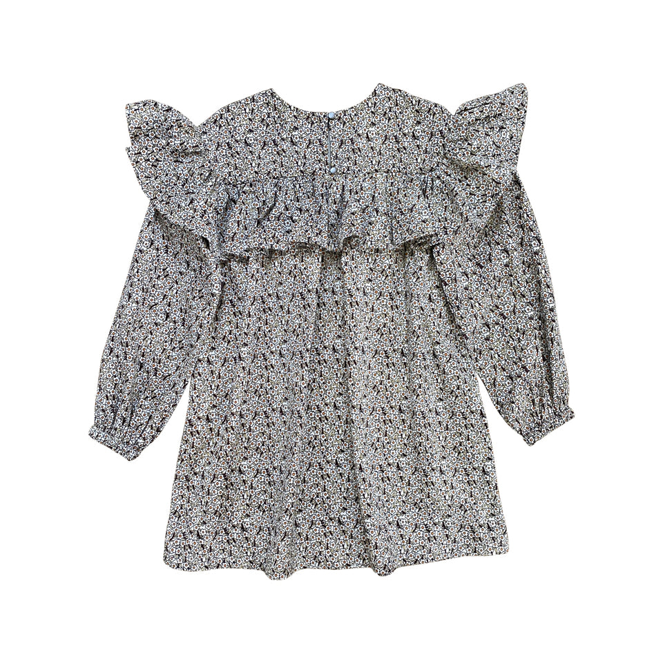 LONG SLEEVE FRILL-NECK SMOCK -  COCO DITSY