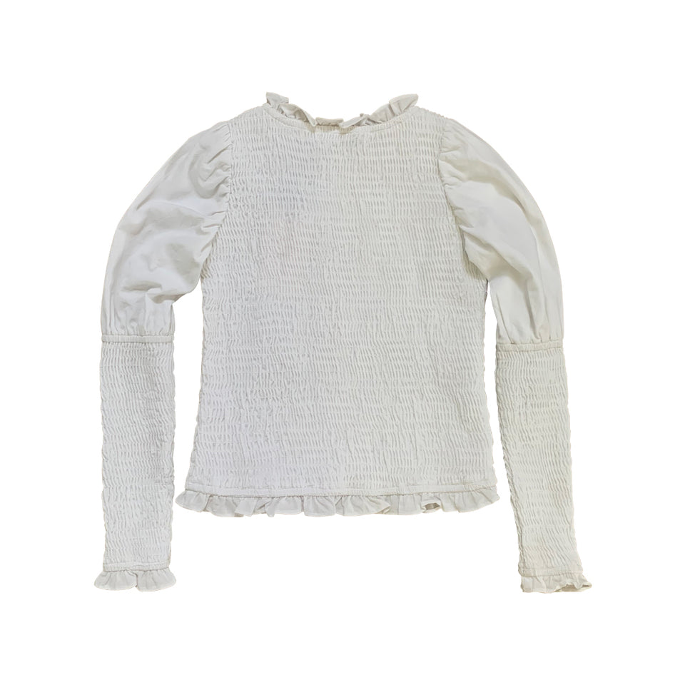 FLORA SMOCKED BLOUSE - MILK