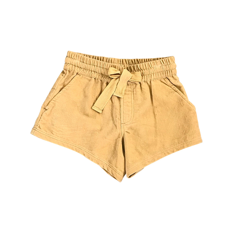 Pixie Velvet Shorts - Honey