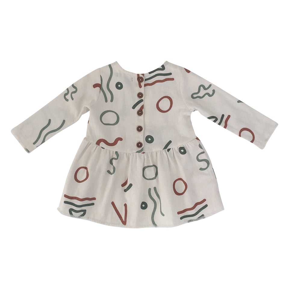 Eliza Baby Smock Top - Abstract