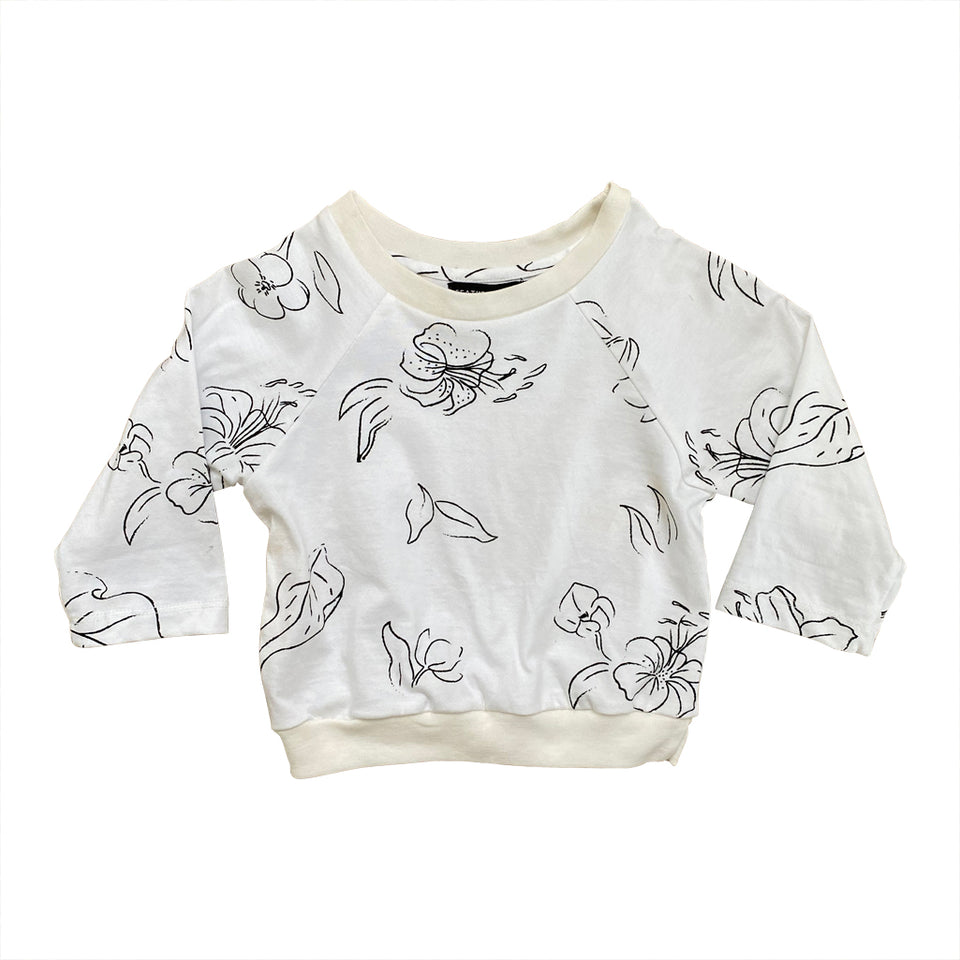 BABY LOUNGE SWEATER - WILD FORAGER MILK