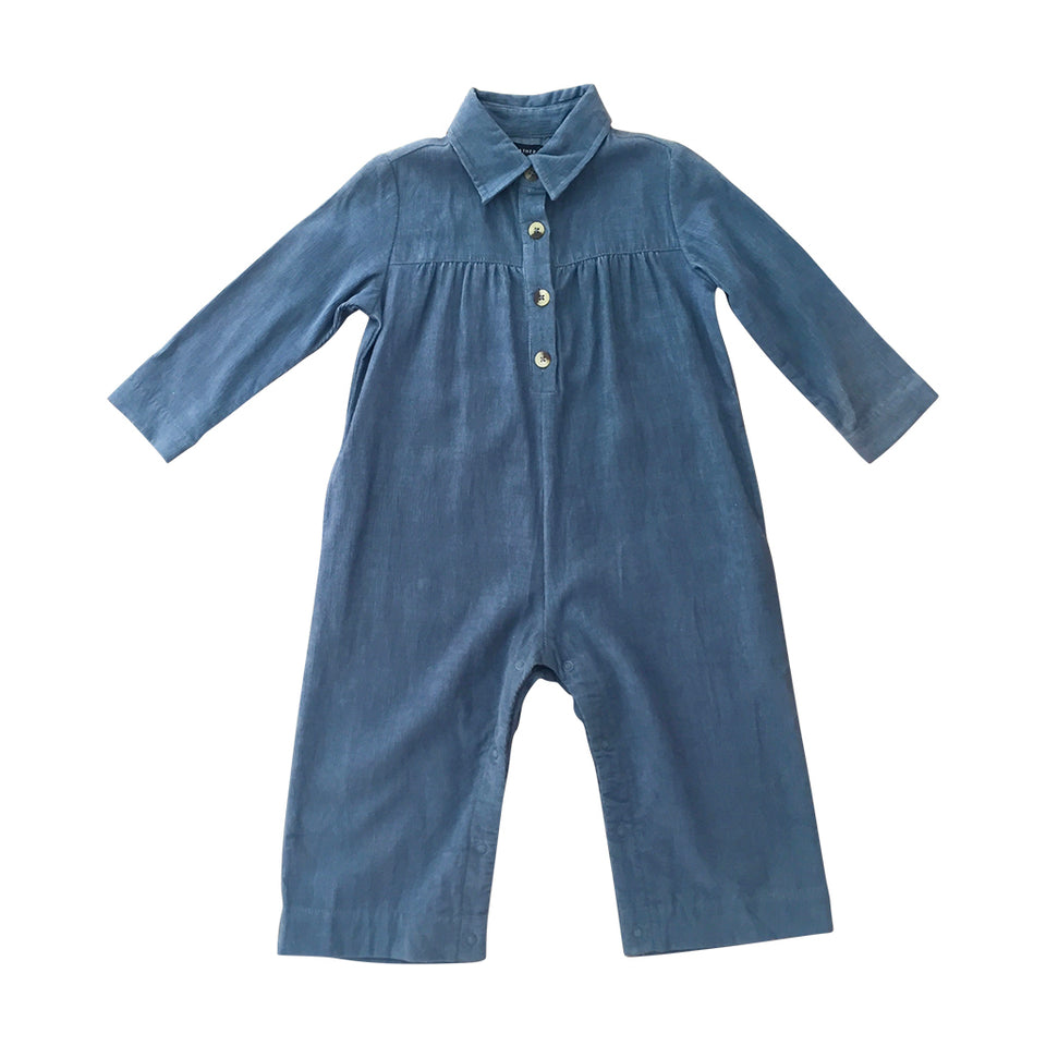 Dillon Long Sleeve Jumpsuit - Bluemoon