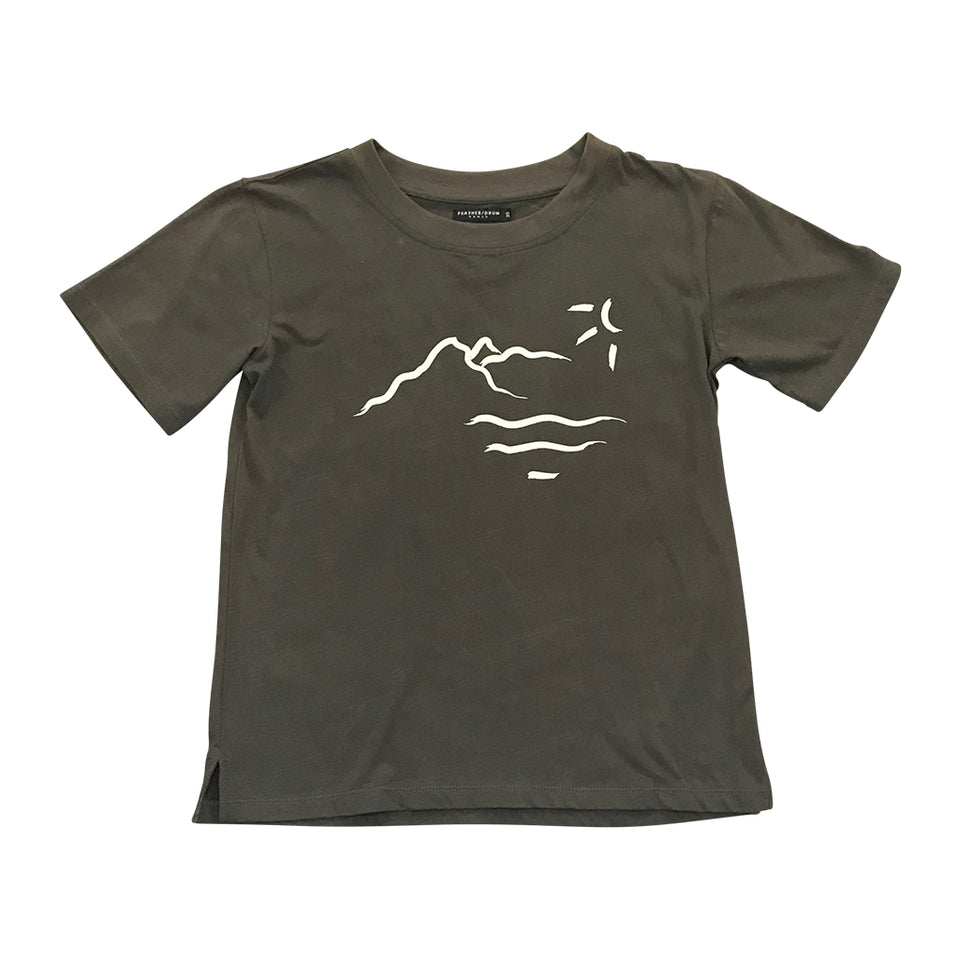 Crew Neck Tee - Gunmetal Mountain
