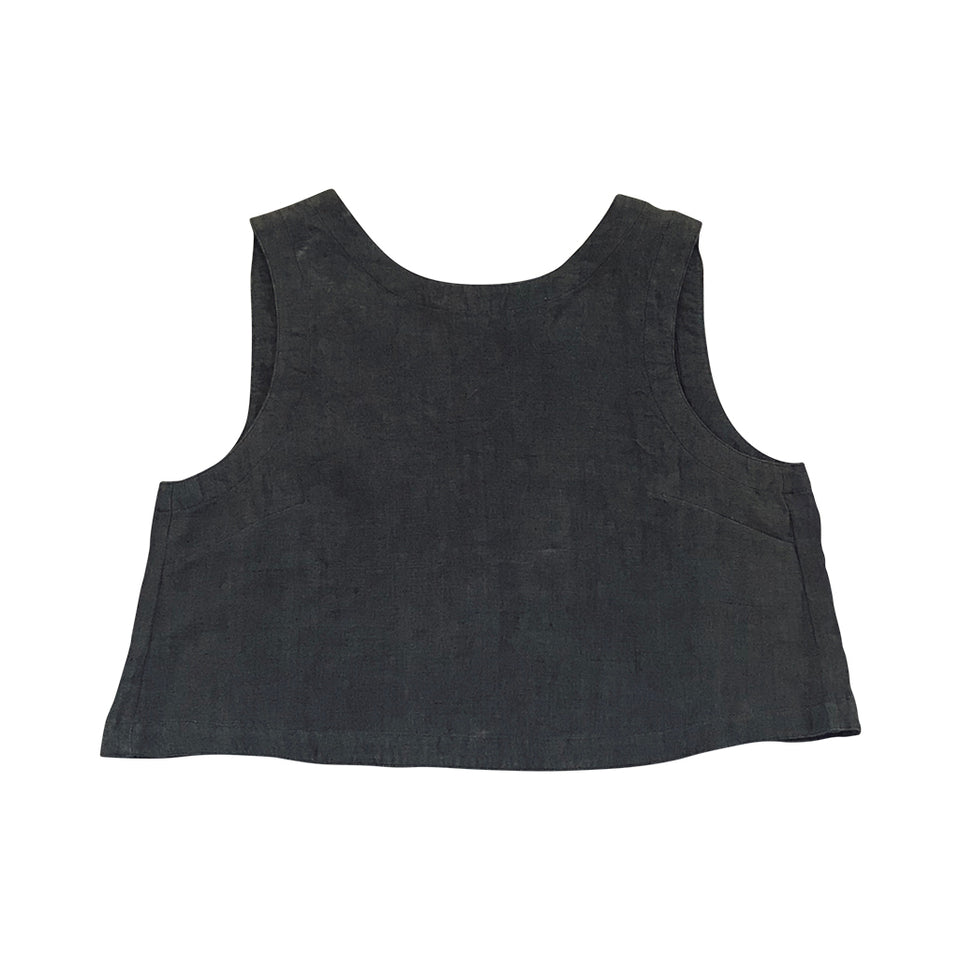 Bec Shell Top - Gunmetal