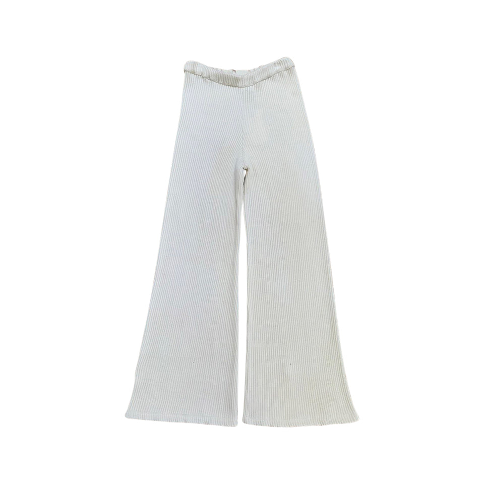 CROPPED WIDE LEG PANT - CHALK