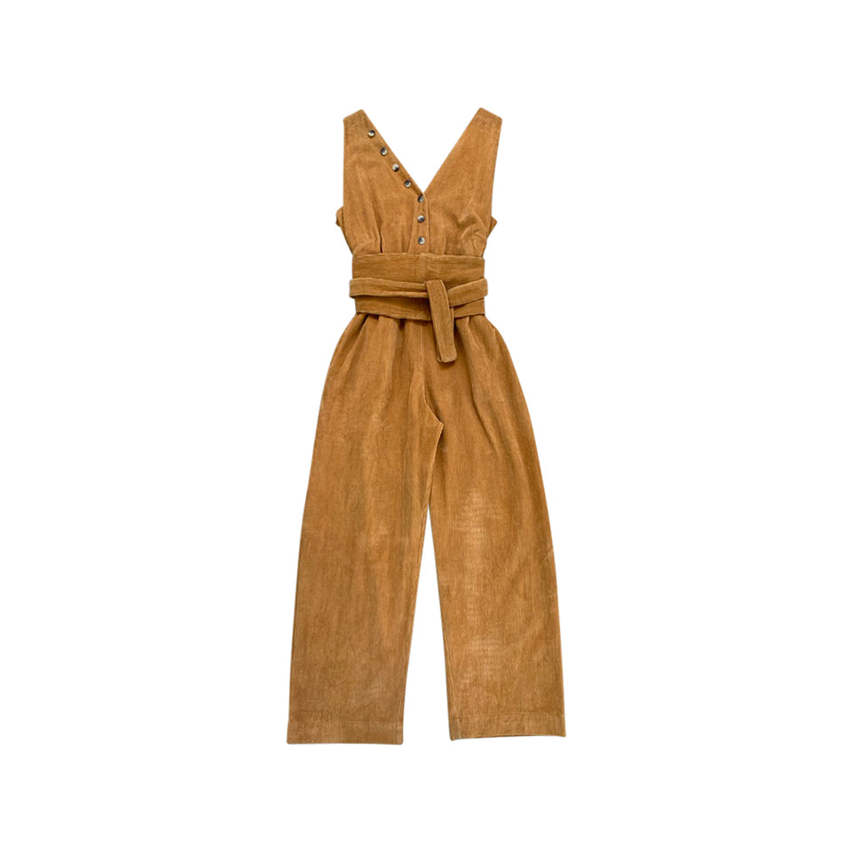 MICAH JUMPSUIT + OBI BELT - GOLD