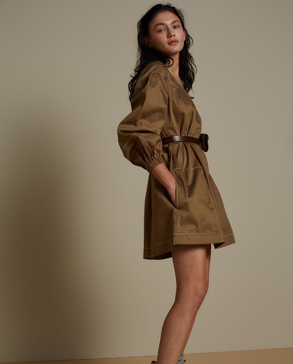 GRACE DRESS - KHAKI