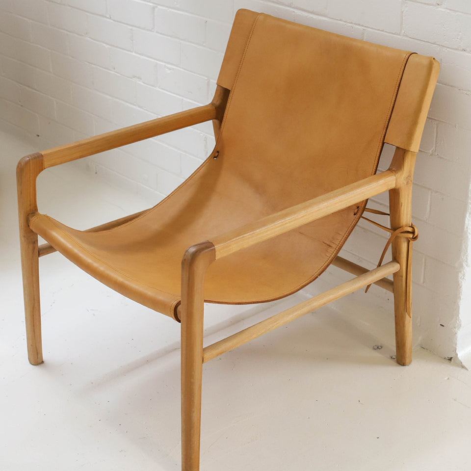 The Armchair – Tan Leather