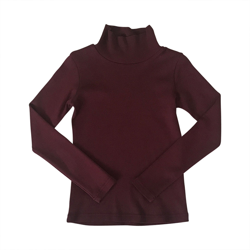 Rib Turtle Neck - Raisin