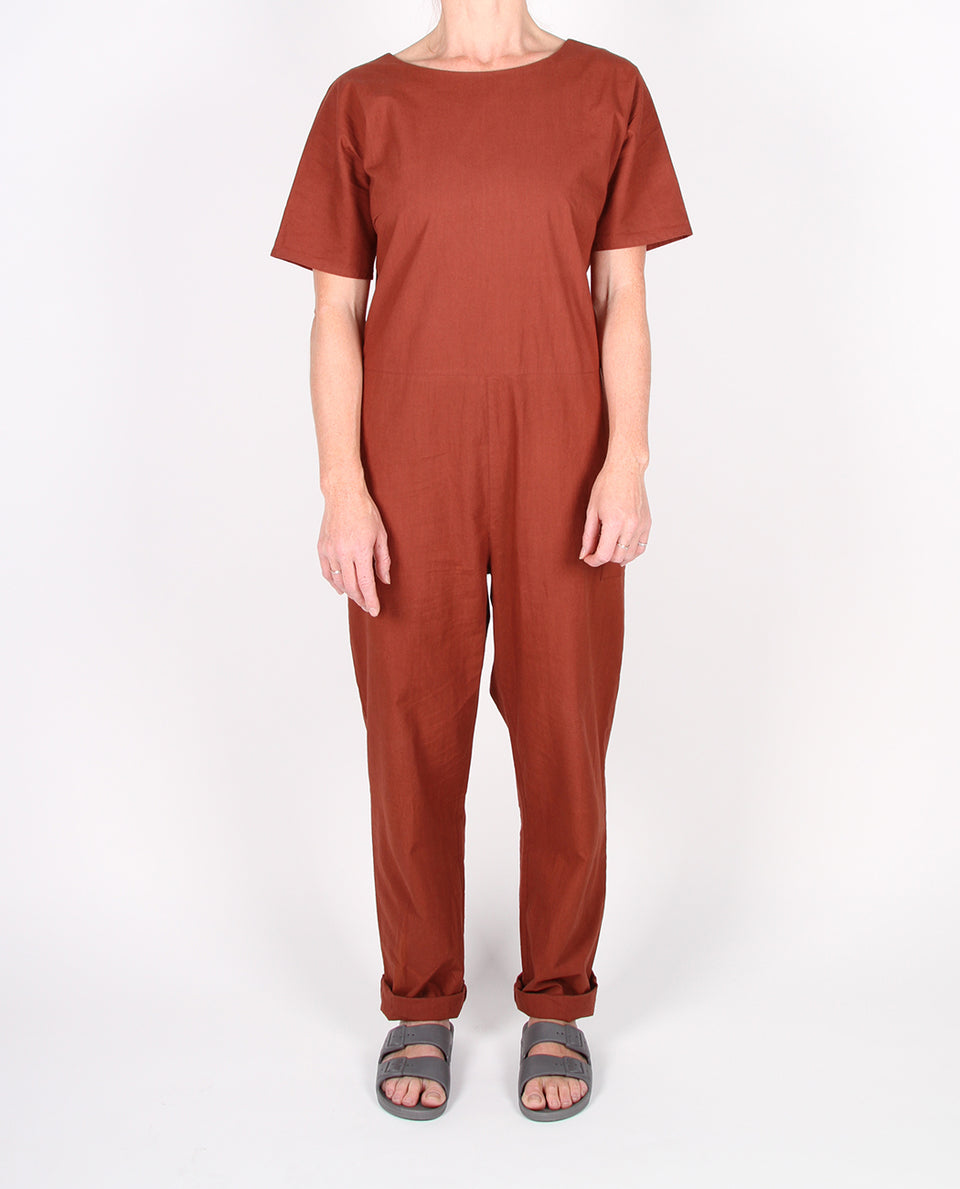 COREY JUMPSUIT - BRANDY