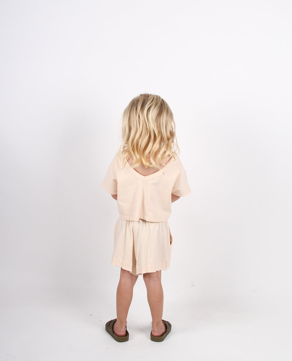 BABY V-BACK BOX TEE - CHAI