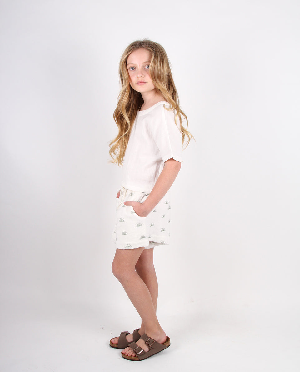 DOUBLE HEM SHORTS - RISING SUN TERRY CLOTH