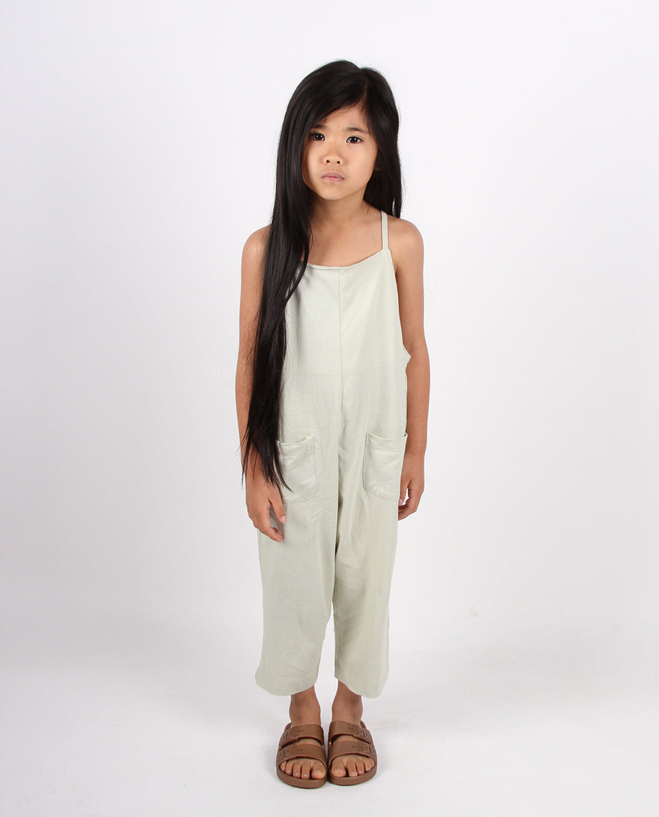 BABY SLOUCHIE OVERALLS - SAGE