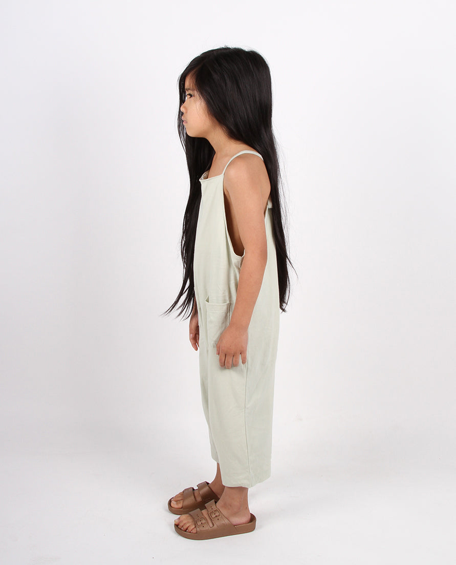 SLOUCHIE OVERALLS - SAGE