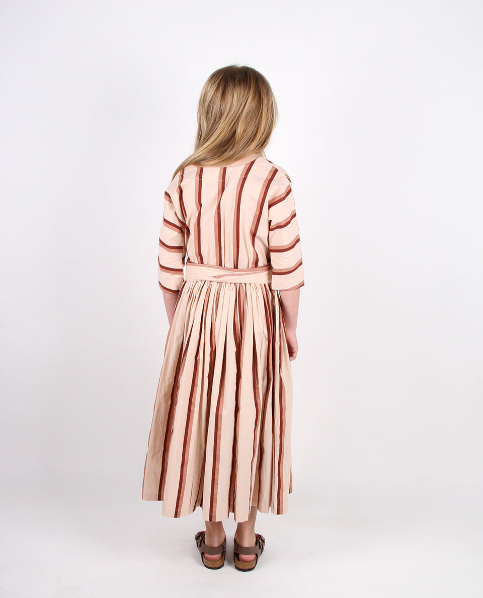 LAYNE DRESS - BRANDY STRIPE