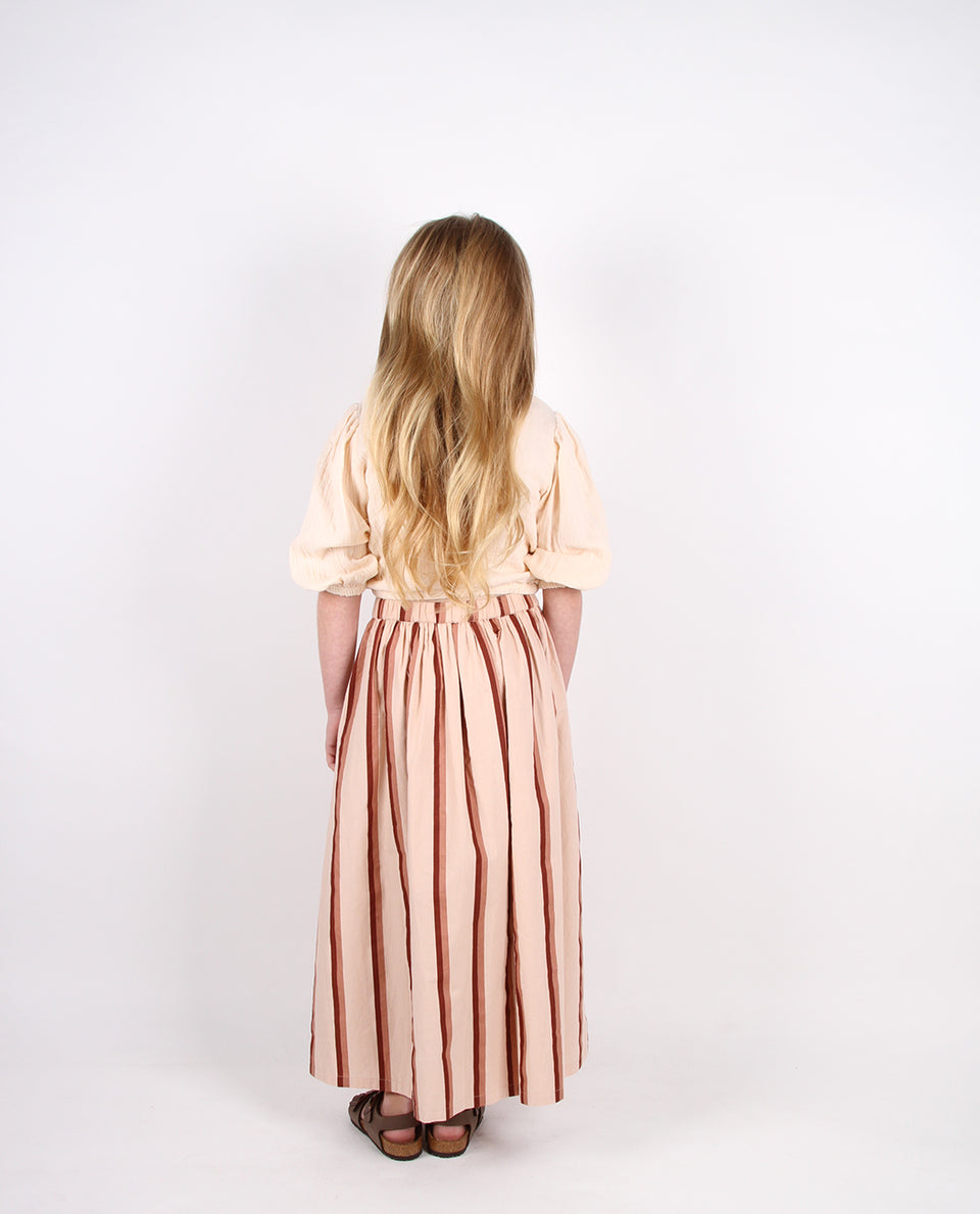 BASIC MAXI - BRANDY STRIPE