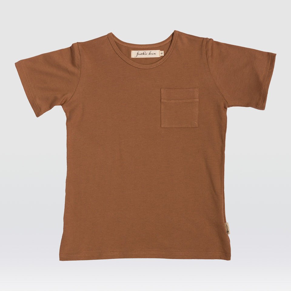 Organic Classic Pocket Tee - Coral