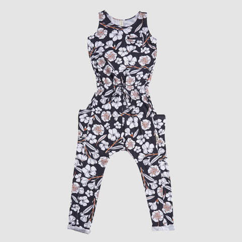 Woodstocker Jumpsuit - Black Flora-Not-Fauna