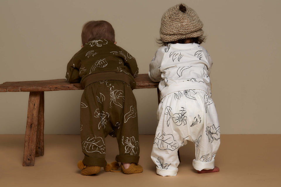 BABY LOUNGE PANTS - WILD FORAGER MILK