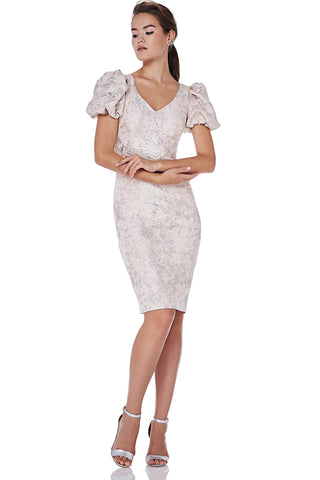 Metallic Jacquard Dress -
