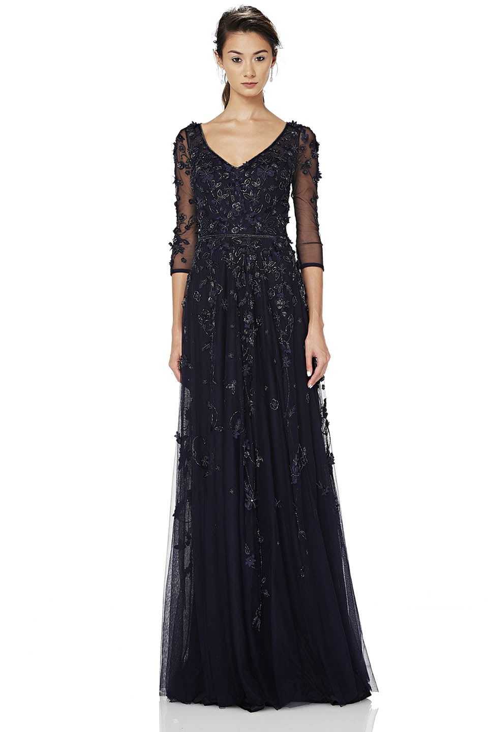 Embroidered Tulle Gown – THEIA