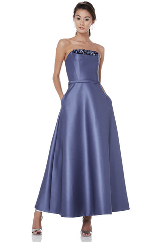 Strapless Tea Length Dress -