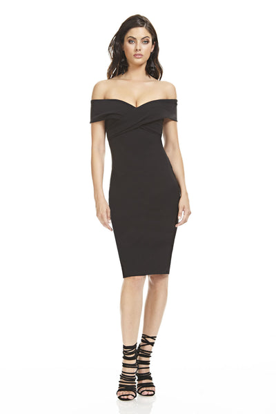 Off The Shoulder Fitted Dress Theia