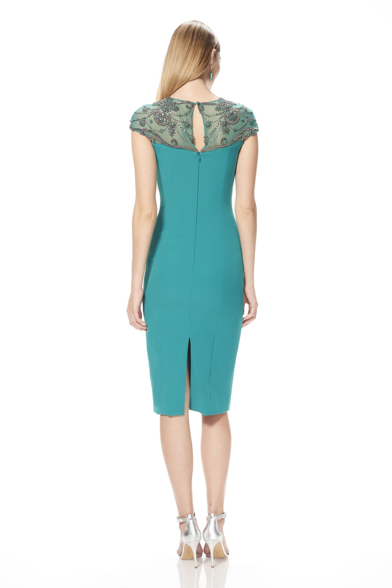 Embellished Crepe Cocktail Dress – THEIA