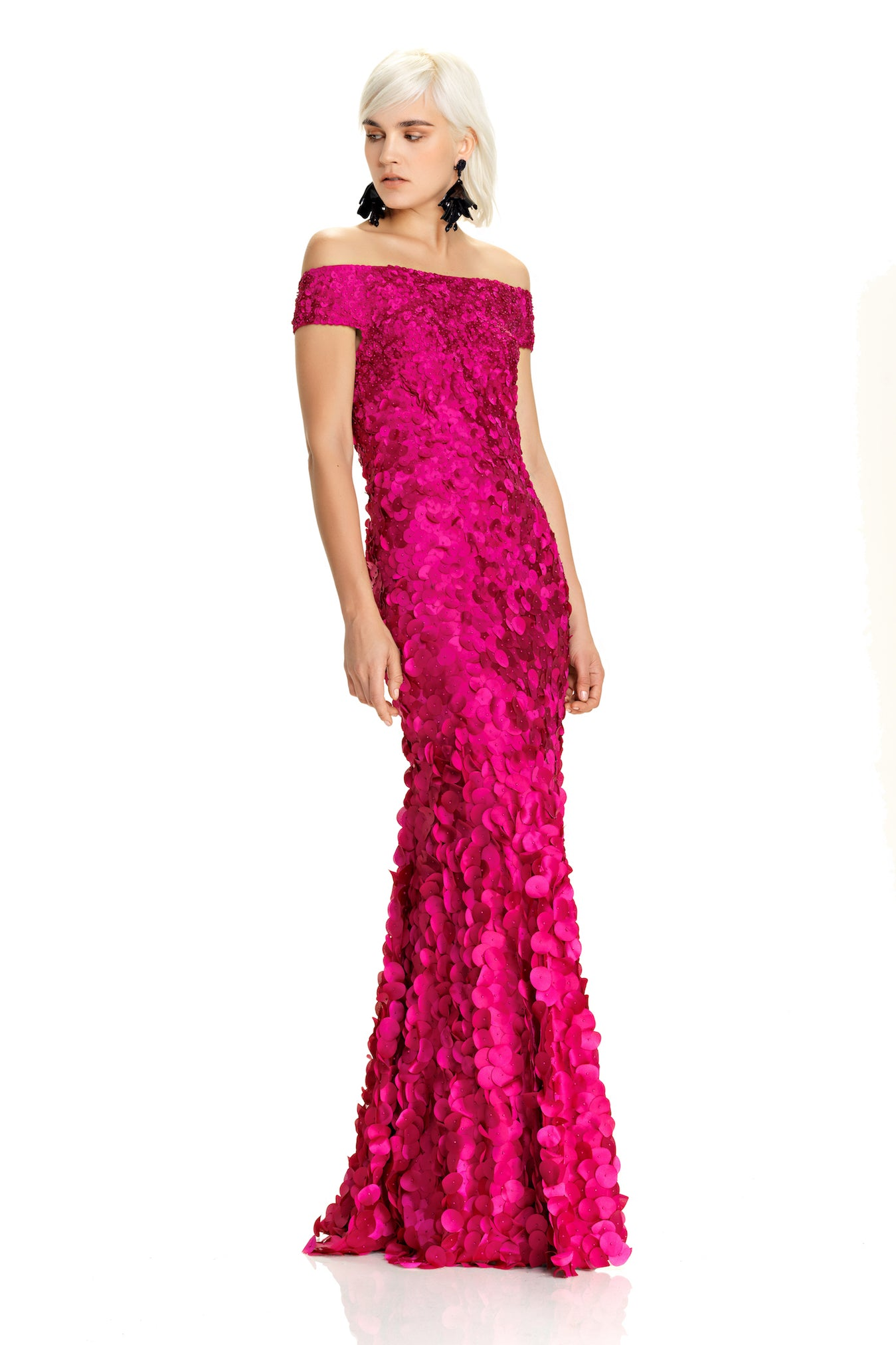 Off The Shoulder Petal Gown – THEIA