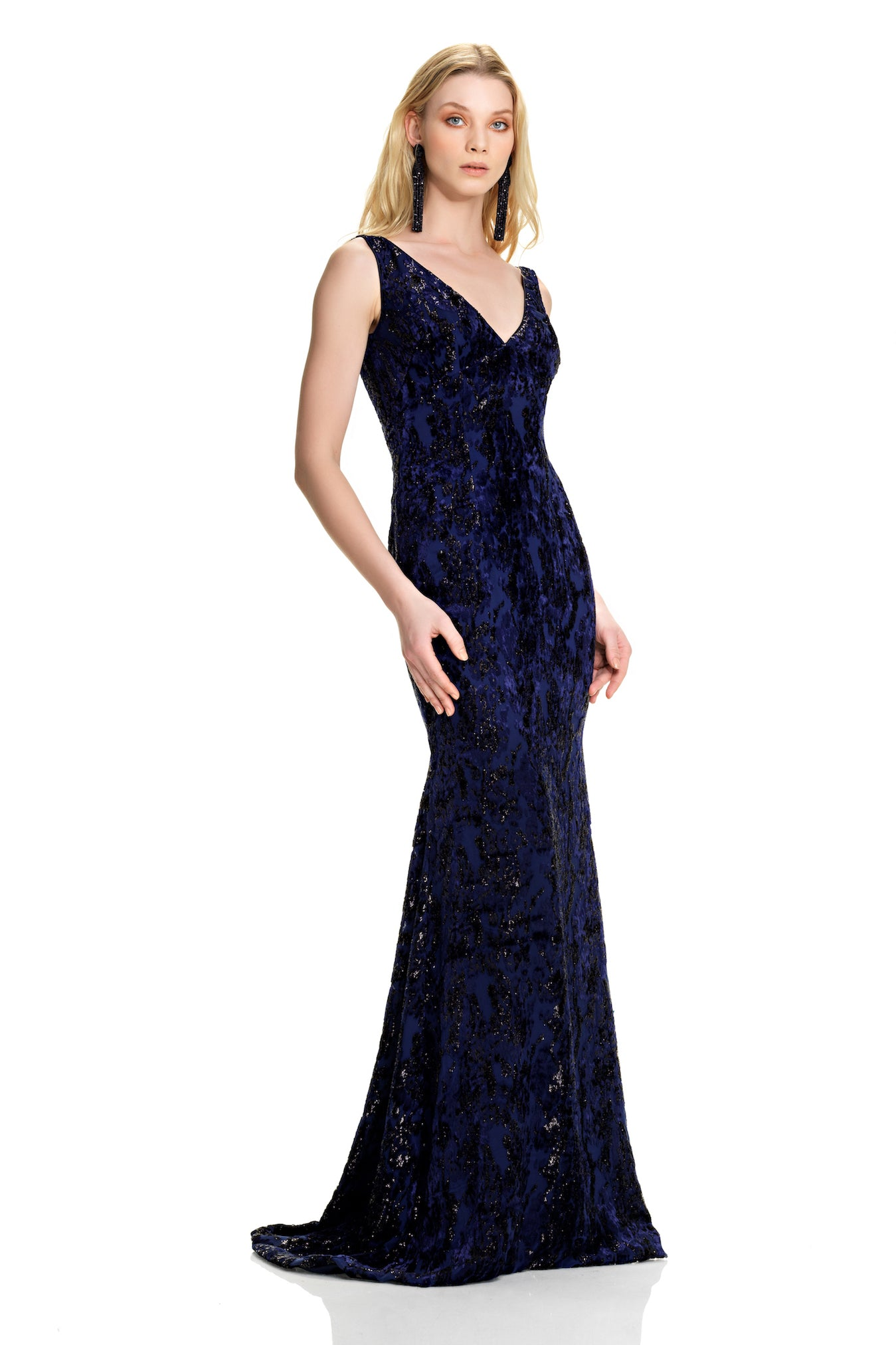 Burnout Velvet Gown – THEIA