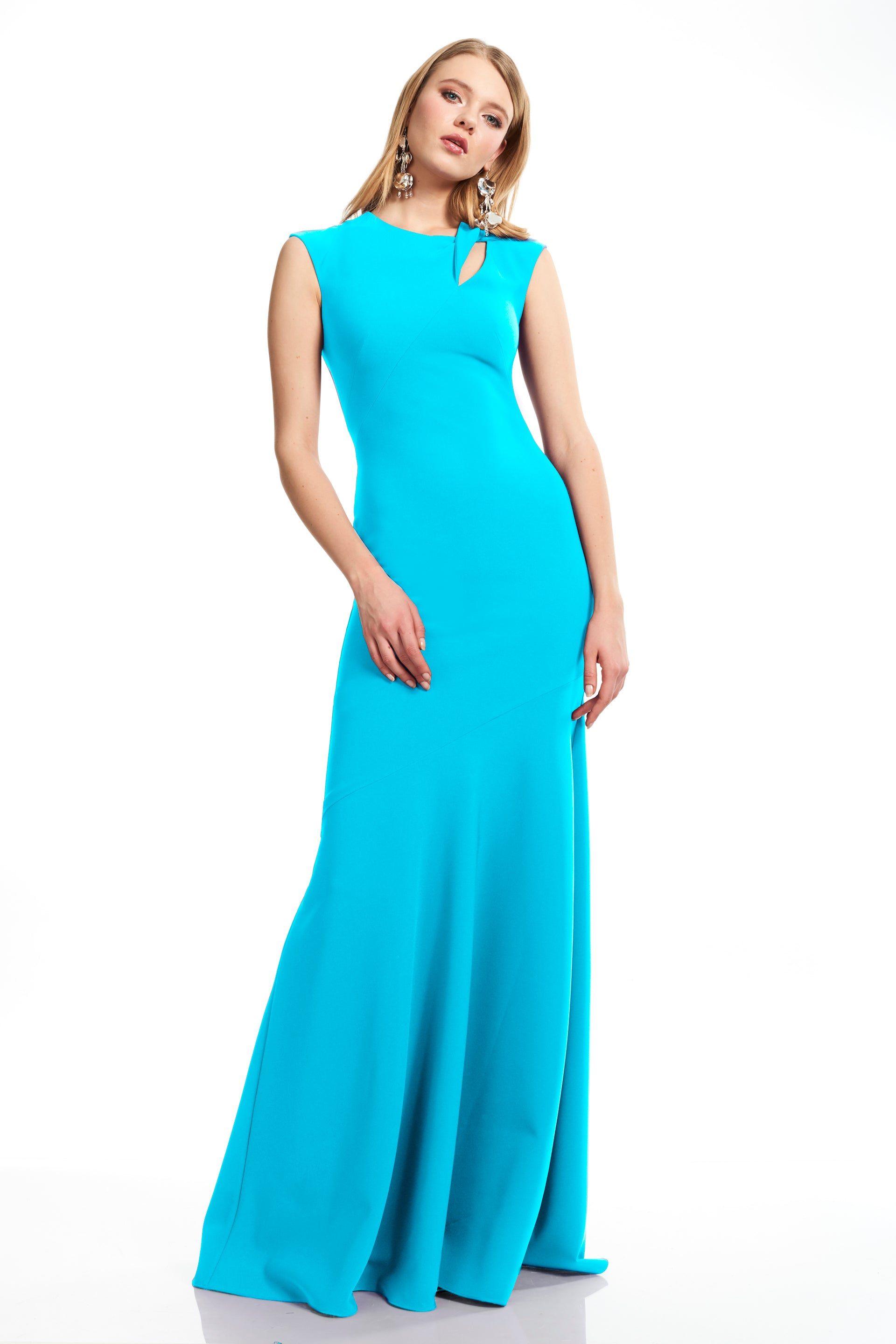 Cap Sleeve Jewelneck Evening Gown – THEIA