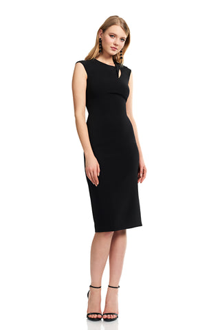 Cap Sleeve Jewelneck Cocktail Dress - Cap sleeve, jewel neck dress features twist detailing on the shoulder What's better than an LBD (...